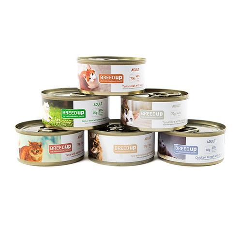 Pack semanal Breed Up de comida húmeda para gatos adultos