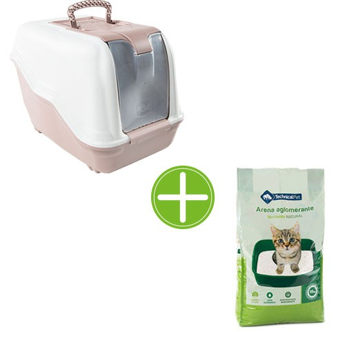 Pack TK-Pet higiene gatos: bandeja Atenea y arena bentonita