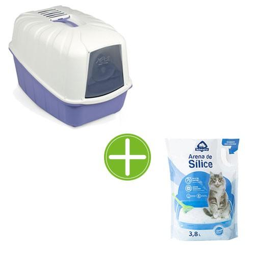 Pack TK-Pet higiene gatos: bandeja Minerva y arena sílice