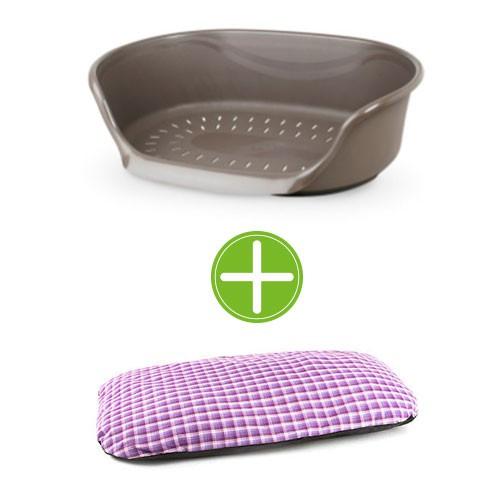 Pack TK-Pet relax: cuna de plástico y cojín