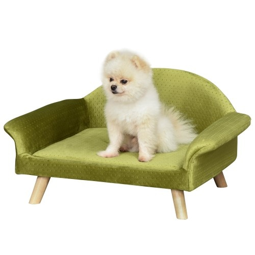 Sofá para mascotas con cojín acolchado color Latón