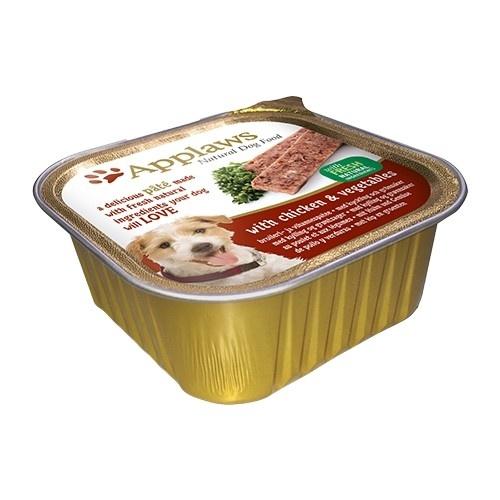 Paté para perros Applaws con sabor a pollo
