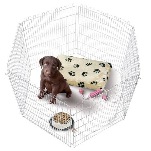 Parque plegable para perros met lico tiendanimal for Estanque para perros