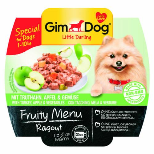 Paté con buey, frutas y verduras para perros pequeños GimDog