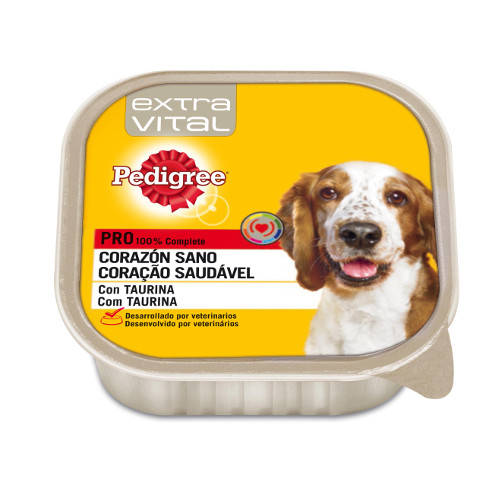 Pedigree Extra Vital Corazón Sano paté para perros en tarrina