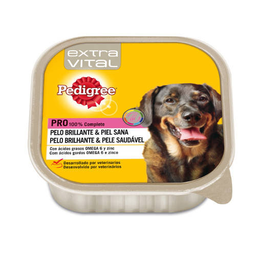Pedigree Extra Vital Pelo y Piel Sanos paté para perros en tarrina
