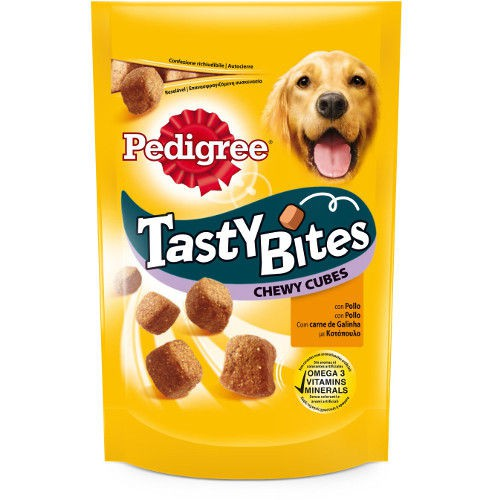 Bocaditos masticables Pedigree Tasty Bites pollo