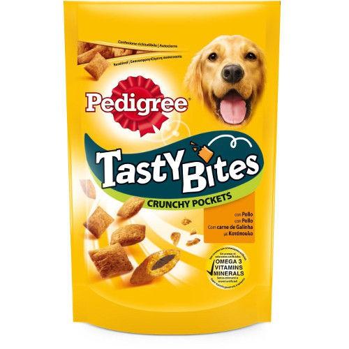 Pedigree Tasty Bites Crunchy Pockets snack para perros con pollo