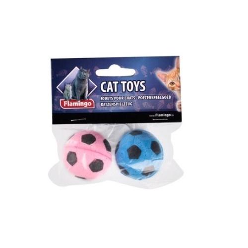 Pelota de fútbol de esponja para gatos