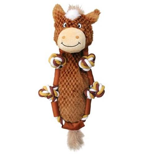 Peluche con cuerda y sonido KONG Barnyard Knots Horse