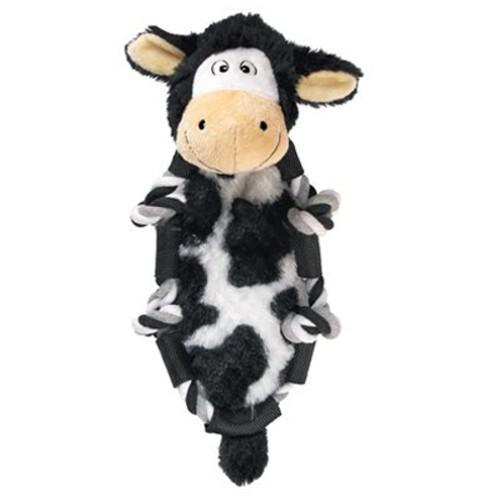 Peluche con cuerda y sonido KONG Barnyard Knots Cow