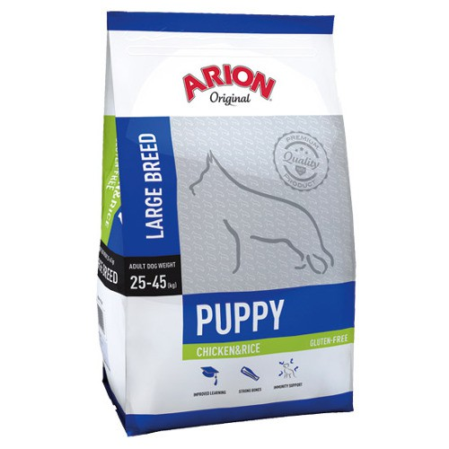 Pienso Arion Original de pollo y arroz para cachorros grandes