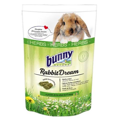 Pienso completo para conejos rico en hierbas Rabbit Dream Bunny
