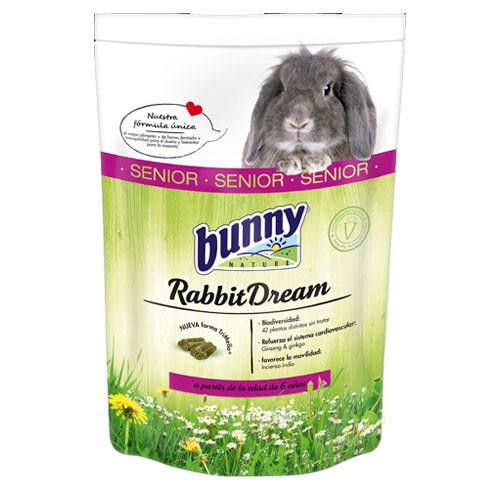 Pienso completo para conejos senior Rabbit Dream Bunny