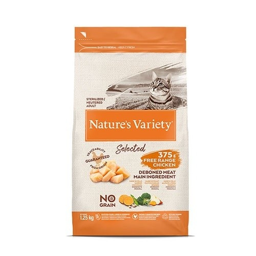 Pienso gatos Nature´ s Variety Selected Sterilized Pollo