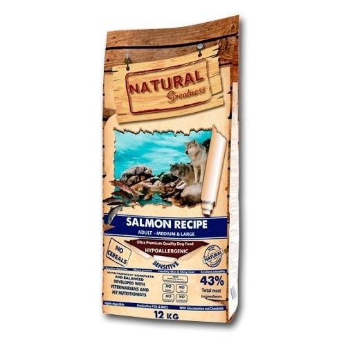 Pienso Natural Greatness Salmon Medium Large para perros
