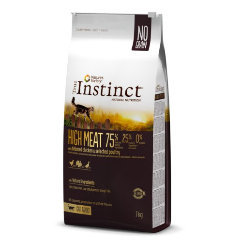Pienso para gatos True Instinct High Meat Pollo