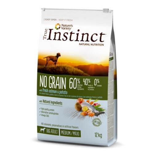 Pienso para perros adultos True Instinct No Grain Medium - Maxi con salmón
