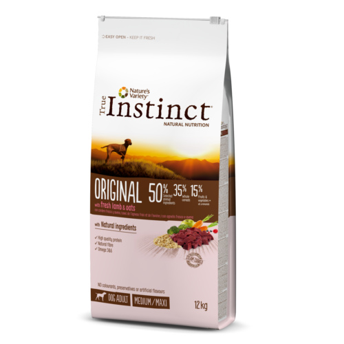 Pienso para perros adultos True Instinct Original Medium - Maxi con cordero