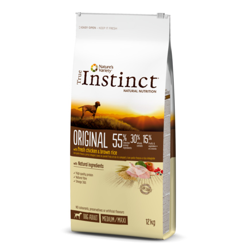 Pienso para perros adultos True Instinct Original Medium - Maxi con pollo