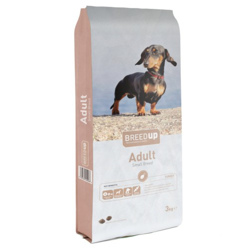 Pienso para perros Breed Up Small Breed con pavo