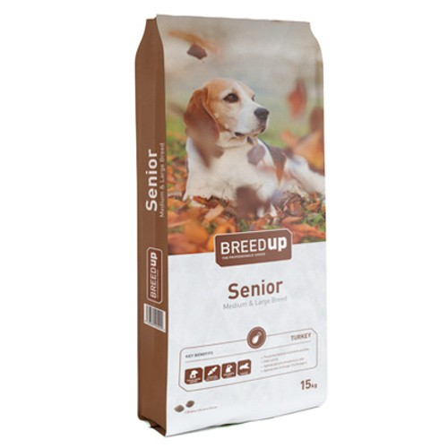 Pienso para perros senior Breed Up Senior Medium & Large Breed
