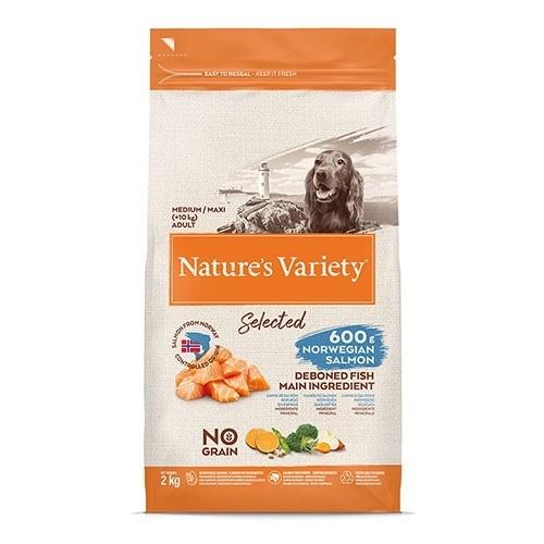 Pienso perros Nature´ s Variety Selected Medium/Maxi Salmón