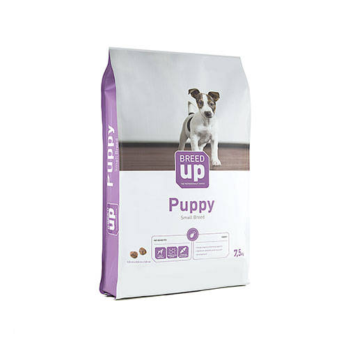 Superpremium dog food Breed Up Puppy for small and medium dogs