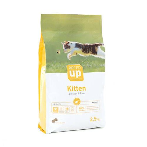 Pienso súperpremium para gatitos Breed Up Kitten con pollo
