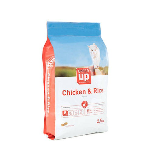 Pienso súperpremium para gatos Breed Up Adult Chicken con pollo