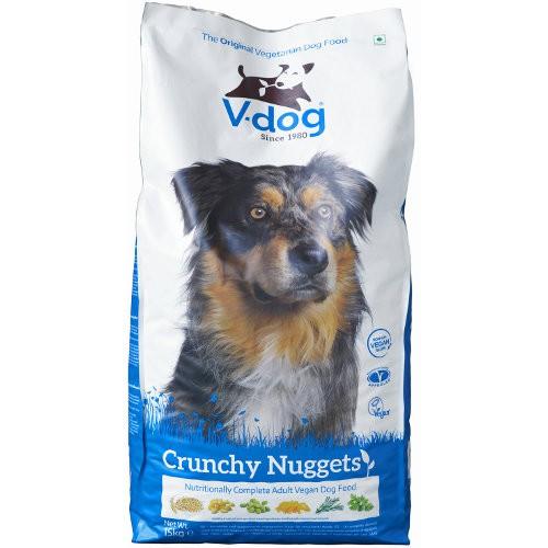 Pienso vegetariano para perros V-Dog Crunchy Nuggets