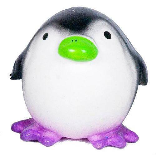 Pingüino regordete de látex con sonido para perros