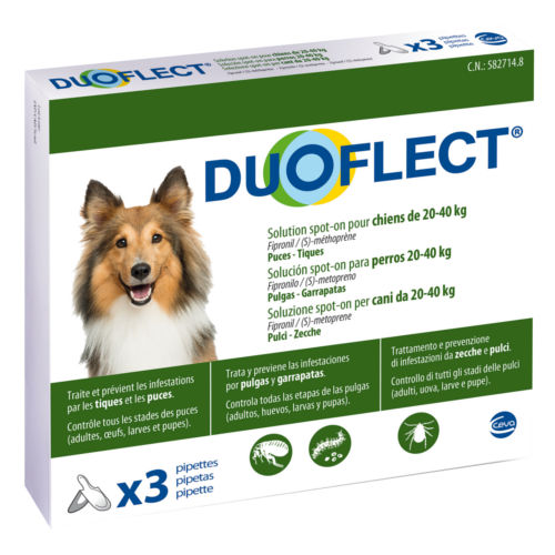 Antiparasitic pipettes for dogs of 20-40 kg Duoflect