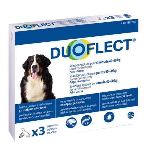 Pipetas antiparasitarias para perros de 40-60 kg Duoflect