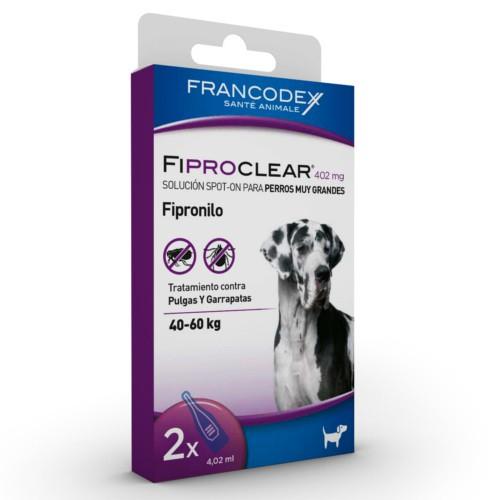 Pipetas antiparasitarias para perros de  40 Kg Fiproclear