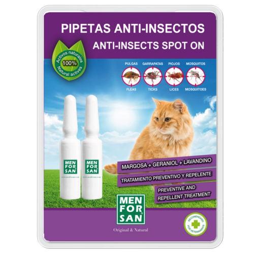 Pipetas naturales repelentes de insectos para gatos Menforsan