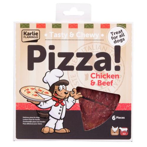 Pizza para perros de pollo y ternera