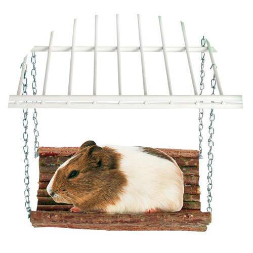 Plataforma colgante de madera para roedores