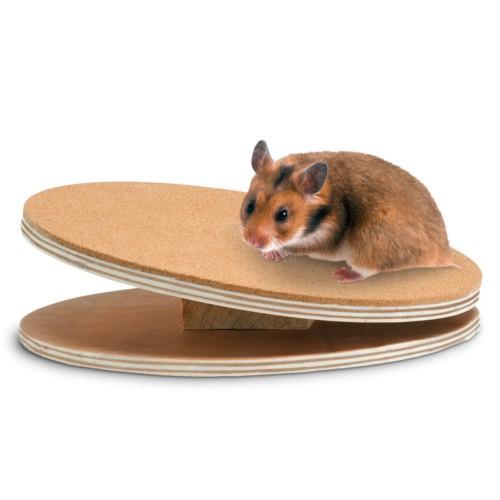 Platillo de ejercicio de madera para roedores Bogie