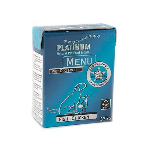 Platinum Menu Alimento húmedo natural Atún y Pollo para perros