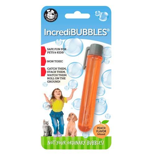 Pompas de melocotón para perros y gatos IncrediBubbles