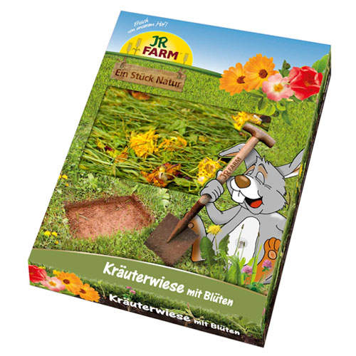 Prado de hierbas con flores JR Farm para roedores y conejos