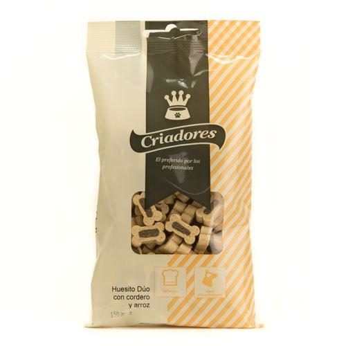 Snacks para perros Criadores Huesito Dúo con cordero y arroz