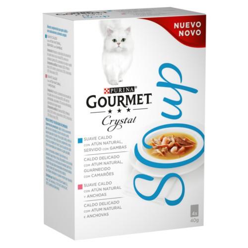 Purina Gourmet Crystal Multipack sopa de atún con gambas o con anchoas