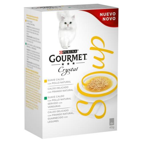 Purina Gourmet Crystal Multipack sopa de pollo natural o con verduras