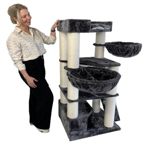 Rascador Corner Coom para gatos color Dark Grey