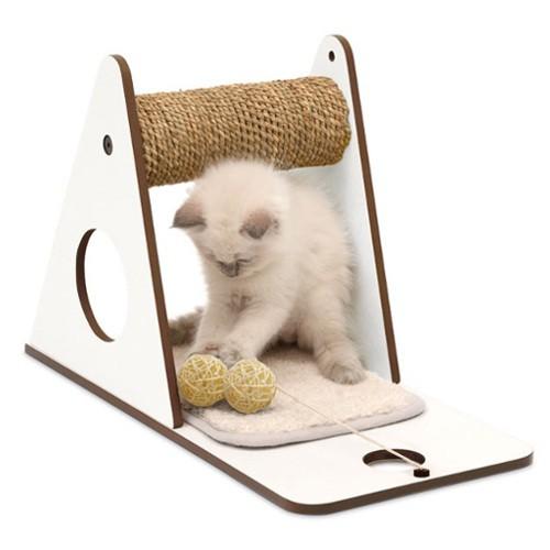Rascador de diseño para gatos V-Playstation Vesper blanco