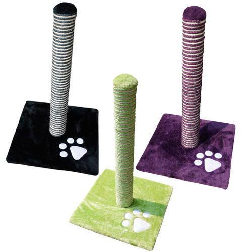 Rascador poste de rascado para gato en tres colores