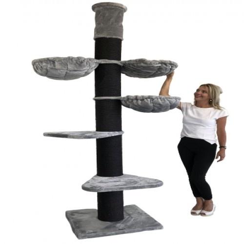 Rascador Maine Coon Tower para gatos color Blackline Light Grey