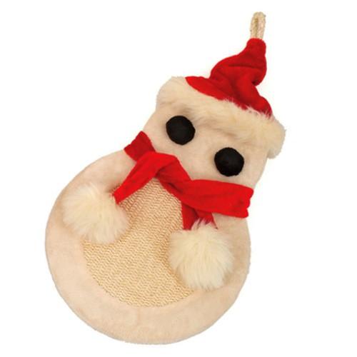 Rascador muñeco de nieve para gatos